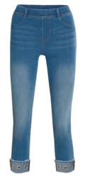 Legging Fantasie fashion | jeans knopen | blauw | YM