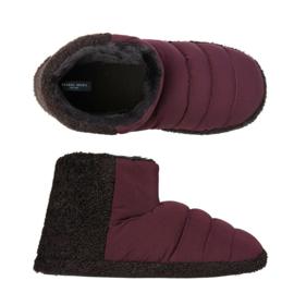 Pantoffels heren dark red | boot slippers extra zacht