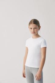 T- shirt met strikje kind korte mouwen| Wit | 100% katoen YM