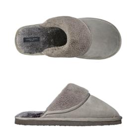 Pantoffels heren grijs instap | slippers extra zacht