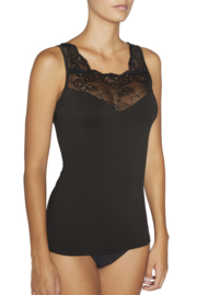 Thermisch shirt met kant mouwloos YM | zwart