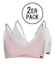 Tiener bustier Skiny  2 stuks | lovely girls | rose stripe selection