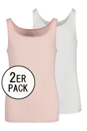 Tiener tank topje Skiny  2 stuks | lovely girls | rose stripe selection