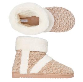Pantoffels dames beige | Hielslippers extra zacht