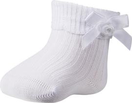Newborn Baby sokjes met strikje | wit
