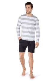 Sweatshirt stonegrey stripe Skiny  | sloungewear