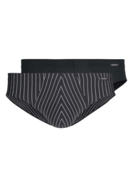 Heren slip 2 pak Skiny | black stripe selection | zwart