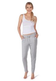 Slaap broek lang light grey Huber | 24 hours woman lounge