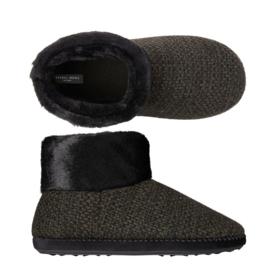 Pantoffels heren zwart | boot slippers extra zacht