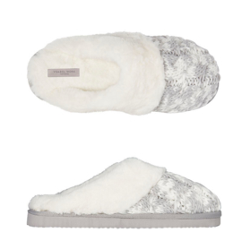 Pantoffels dames wit groen | Slippers extra zacht