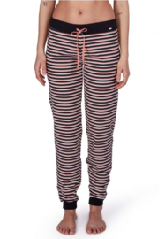Slaap broek lang rose black stripe | Sleep & dream