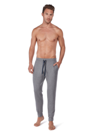 Lange broek stone melange Huber  | 24 hours men lounge