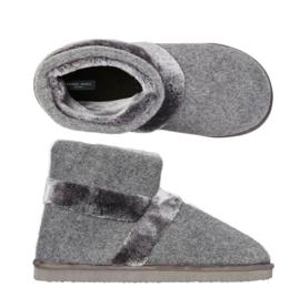 Pantoffels heren grijs | boot slippers extra zacht