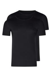 Shirt 2-pak zwart | korte mouwen Multi pack