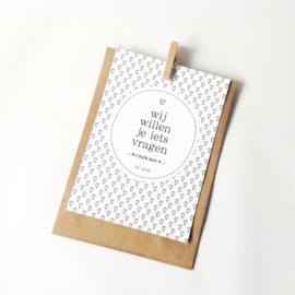 Kraskaart | Wij willen je iets vragen | Wil je mijn meter zijn?