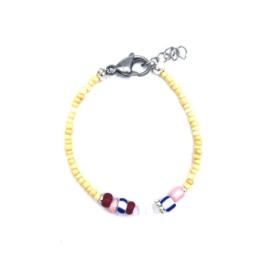 Yellow bracelet multi beads