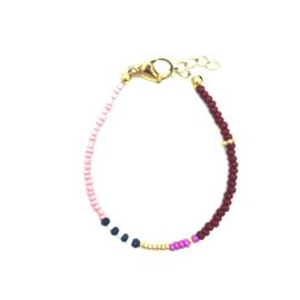 Stripes bracelet red