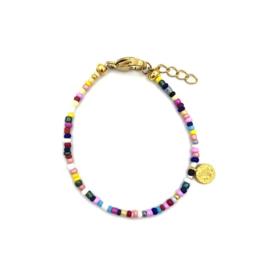 Multicolour bracelet gold
