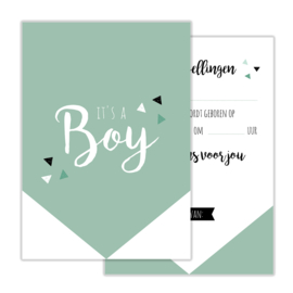 Invulkaart Babyshower Boy (set)