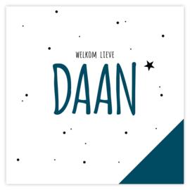 Geboortekaart Daan