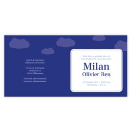 Geboortekaart Milan (met envelop)