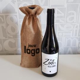 Jute wijnzak met opdruk   Logo