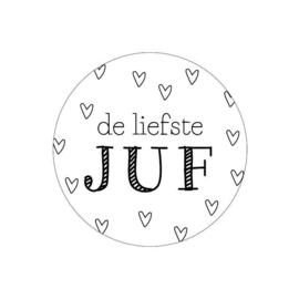 Stickers Liefste Juf | 5 stuks