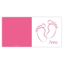 Geboortekaart Anne (met envelop)
