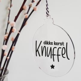 Kerstbal plexiglas | Kerst Knuffel