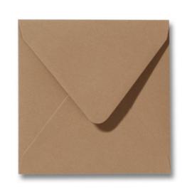 Enveloppen bruin 140 x 140 mm