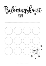 Printable Beloningskaart