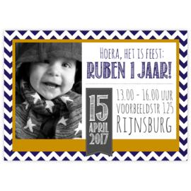 Uitnodiging Ruben (set)