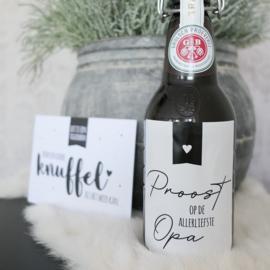Fles etiket | Proost op Opa