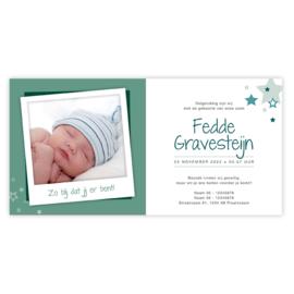 Geboortekaart Fedde (met envelop)
