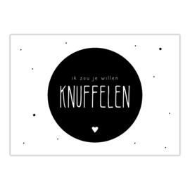 Ansichtkaart | Knuffelen