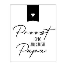Fles etiket | Proost op Papa