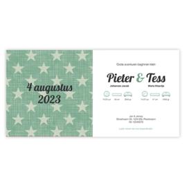 Geboortekaart Stars (met envelop)