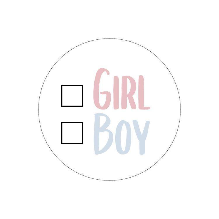 Stickers Girl or Boy | 5 stuks