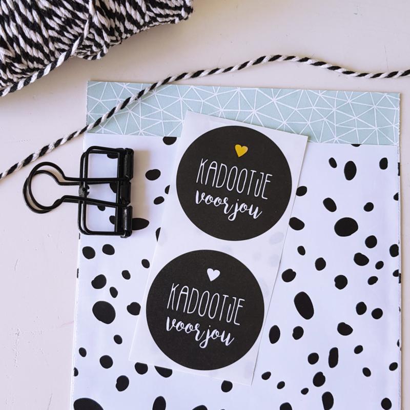 Stickers Kadootje voor jou | 2 stuks