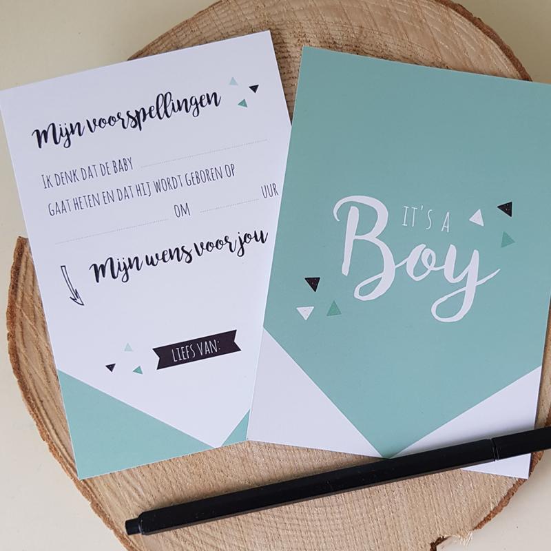 Invulkaart Babyshower Boy (set)