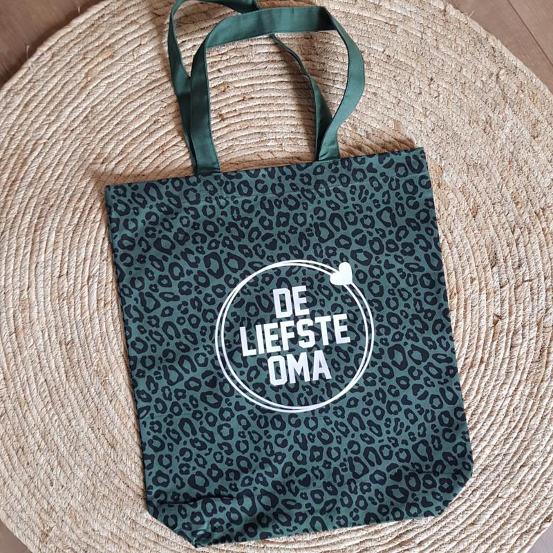 Tas Leopard  groen | De liefste