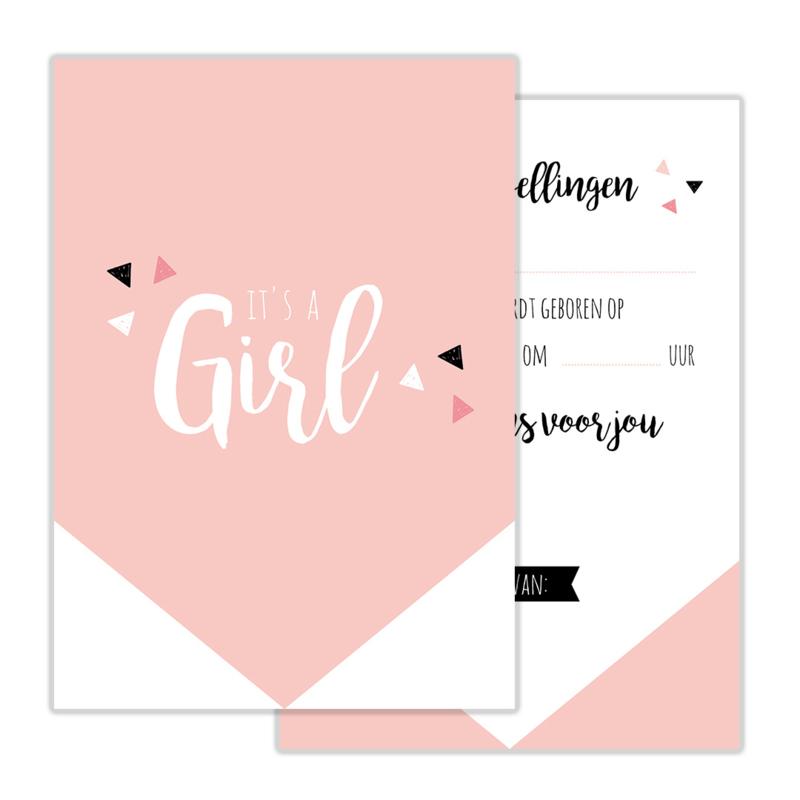 Invulkaart Babyshower Girl (set)