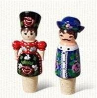 Hand geschilderde wijnkurken, Hongaarse poppetjes