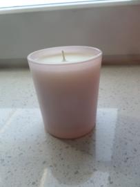 Kaars in Roze glas 200 gram
