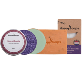 Plasticvrije Badkamer Bundel – (Alle HappySoaps producten)