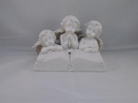 Drie lezende Cherubijnen met ledlichtje