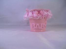Roze mini emmertje voor kleine dingen