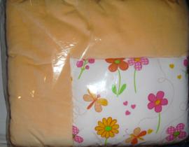 Speel-boxkleed, zalm met bloemen, Jollein baby-line
