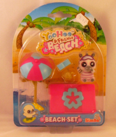 Yoohoo & Friends, beach set, Zebra