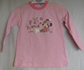 Tuniek, licht roze, met lange mouwen, Minnie Mouse, mt 12 mnd